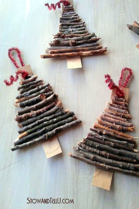 With twigs from your yard and a bit of cardboard you can create a mini rustic…