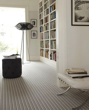 Room with striped carpet from Cormar Carpets - best wool carpets - flooring ideas - allaboutyou.com