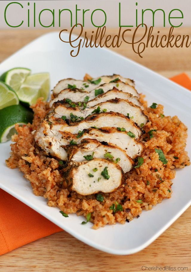 This Cilantro Lime Grilled Chicken - so simple, so easy, and so delicious! Prepare the chicken with some roasted butternut squash and you got yourself a delicious paleo dinner.