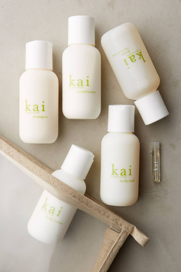 Kai Travel Set.  a light, intoxicating blend of white gardenia, wrapped in exotic floral.  Set includes shampoo, conditioner, body wash, body lotion, fine linen wash and perfume oil.