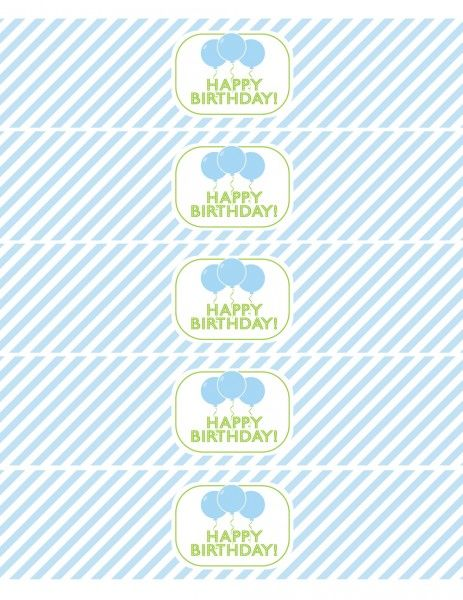 FREE Blue and Green (Boy) Birthday Printables from Green Apple Paperie | Catch My Party