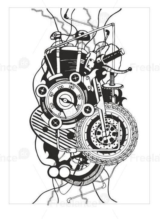 Super tattoo motorcycle fan! #tattoo #supertattoo #designtattoo #motorcyclefan #motorcycle #freelancediscount #bike