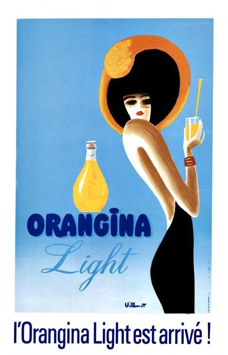 Vintage Italian Posters ~ #illustrator #Italian #posters #vintage ~ startwithsunset:  Orangina Light - Bernard Villemot (1911–1989)