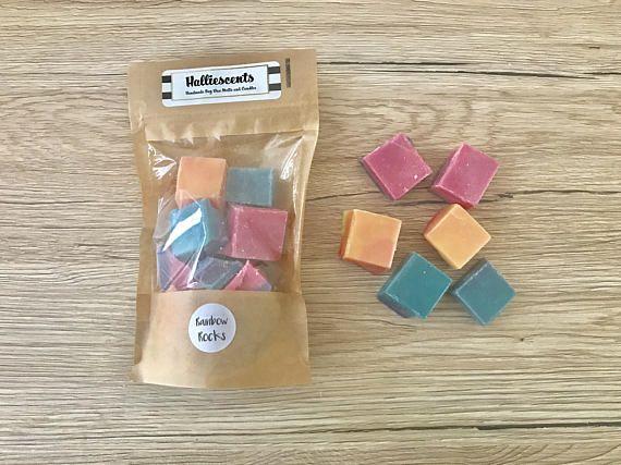Wax Melt Chunks  Rainbow Rocks Soy Scented Wax Melts Fruity