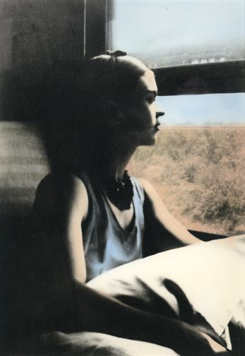 frida travelling... one of my favorite images of her