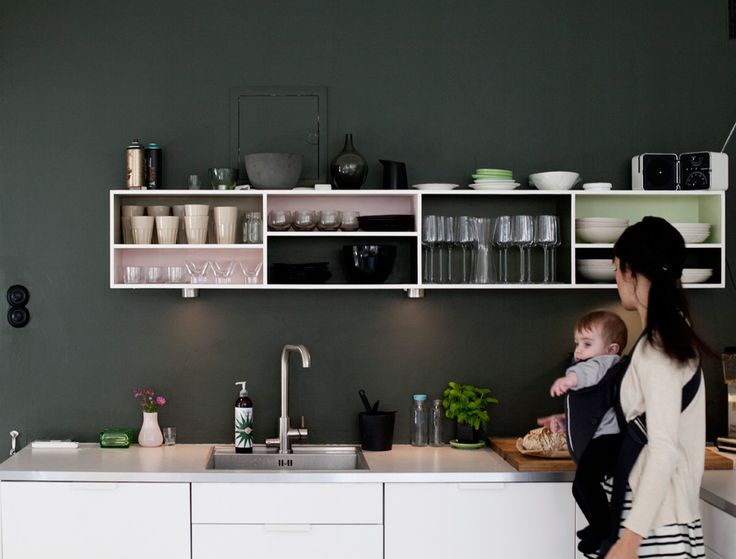 Beautiful kitchen in a home in Sweden  Photo by Jenny Brandt for Dos Family.