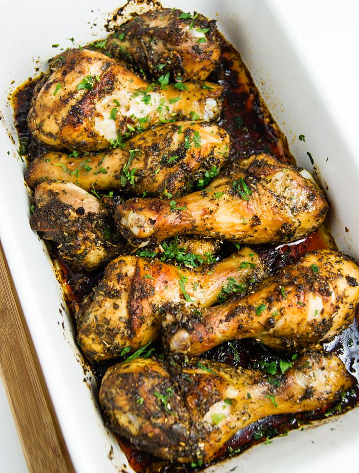 Garlic-paprika baked chicken legs