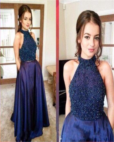 A47-2017 Black Long Prom Dresses,Sparkle Beaded Prom Dresses,Party Prom Dresses