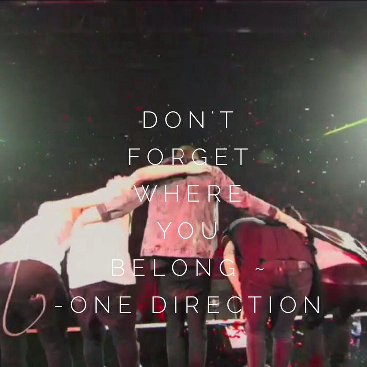 Don't forget where you belong ~ One Direction | 1D lyrics ...