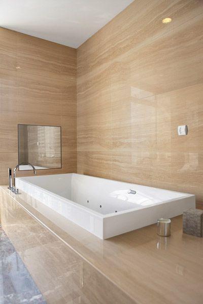 die 25+ besten badezimmer jacuzzi ideen auf pinterest - Moderne Badewanne Eingemauert