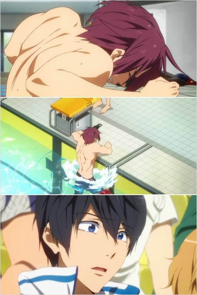 Free! ~~ Haruka's reaction to Rin's sorrow is perfect wordless storytelling.