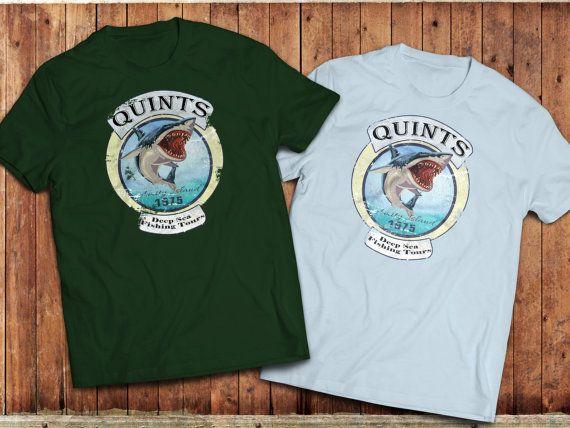 Jaws movie inspired T-Shirt, Quints Deep Sea fishing, Amity Island fishing tours #Jaws #StevenSpielbergmovie #Classicmovie