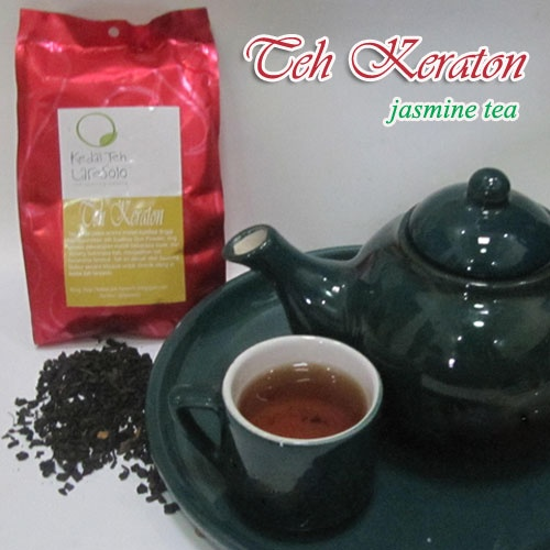 """Jasmine tea is one of  strong tea culture in Indonesia, specially in Central & East Java.  """"Teh Keraton"""" is made from high quality tea (super pekoe grade of green tea)."""