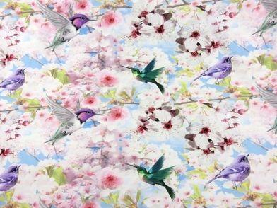 T2374 Trikå drömfåglar