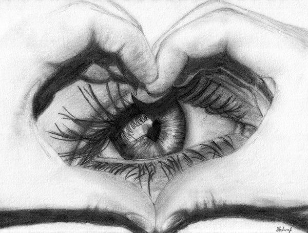 Eye Love You -10  Cool Heart Drawings for Inspiration, http://hative.com/heart-drawings/,