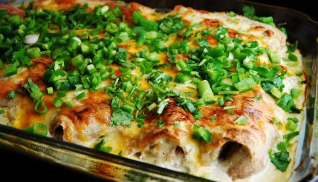 White Chicken and Cheese Enchilada Casserole , weight watchers recipes , 6 points+