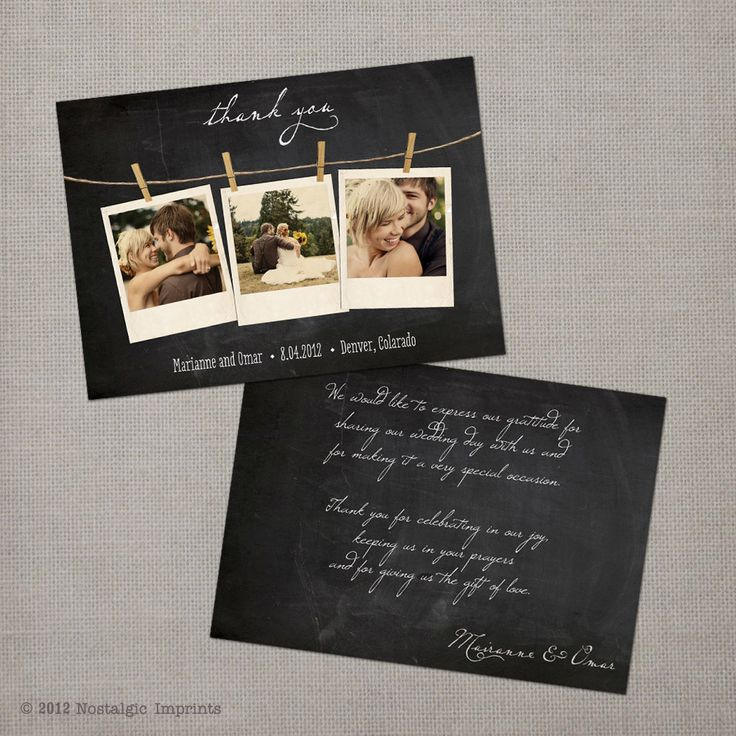 ADORABLE Wedding Thank You Cards
