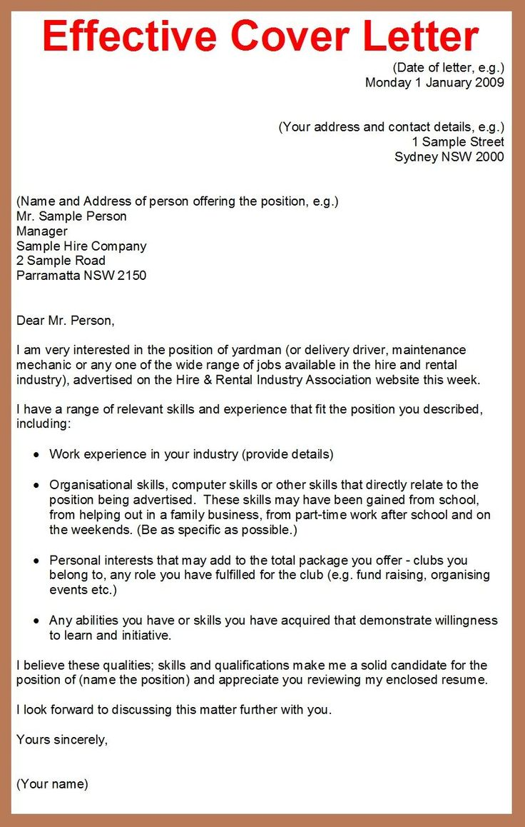 30  cover letter sample for job application   cover letter