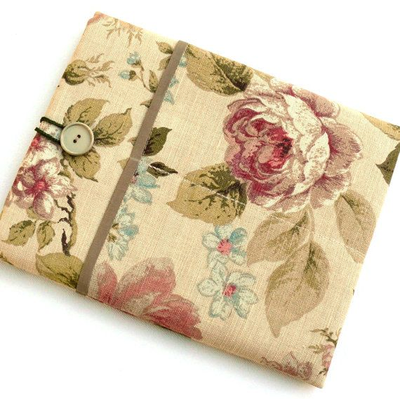 iPad Fabric Cover Padded Sleeve Case with Pockets by InStyleLiving