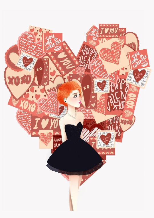 """thesnugglebug: Inspired by a scene from Paramore's """"The only exception"""" video.The one where she lays in a pile of valentine cards which apparently were all sent in by their fans ! :D"""