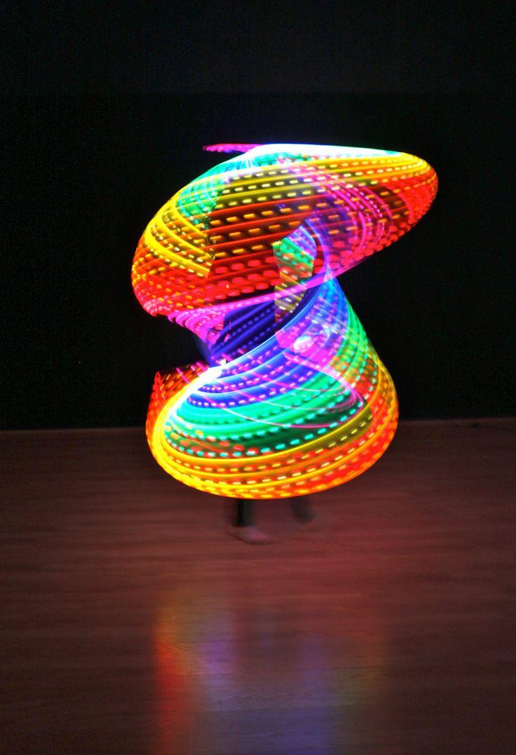 Rechargeable Double Rainbow LED Hula Hoop (2 Circuits). $225.00, via Etsy.