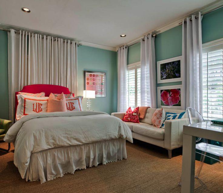 Best Bedroom Paint Colors For Girls Diy Bedroom Ceiling Canopy Bedroom Bedroom Best Bedroom Arrangement: Best 25+ Curtain Behind Headboard Ideas On Pinterest