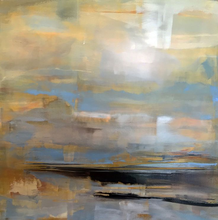 """Carol Pelletier April 12x12"""" oil and cold wax on panel"""