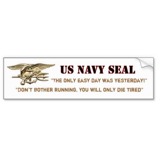 Us navy seal bumper sticker
