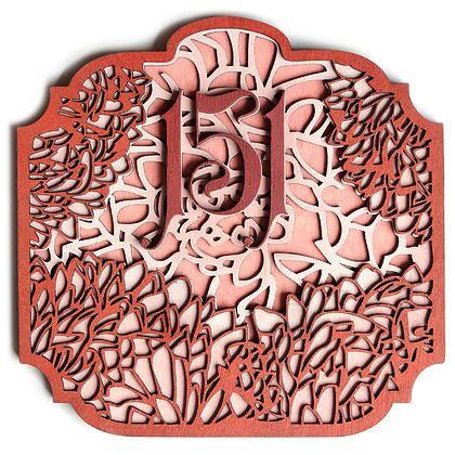 """Табличка с номером квартиры """"Нежные астры"""" - ДЕРЕВЯННЫЕ ОЧКИ и чехлы Coob"""