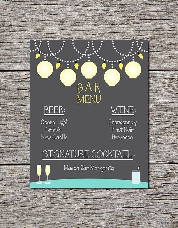 A little limited... but I love the idea of a drink menu!!