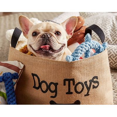 keep your dogu0027s toys organized with this stylish rustic storage basket from wayfair canada featuring