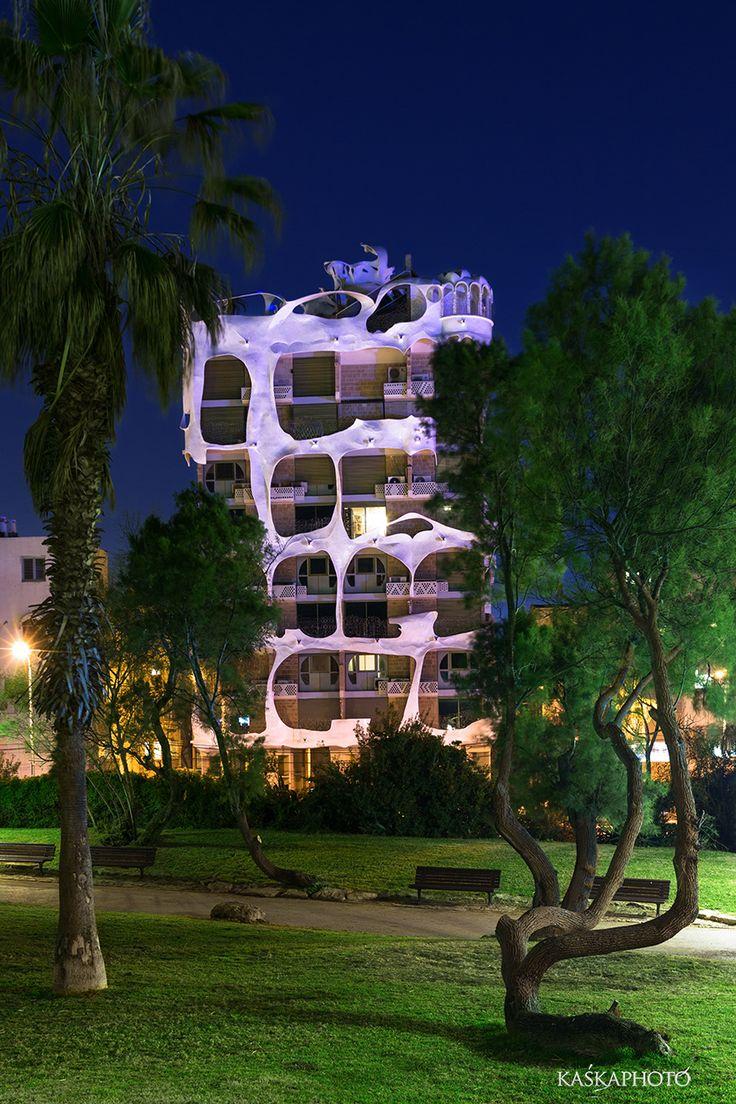 "The ""Crazy House""  Gaudi style building in Tel Aviv, was built in 1985  architect: Leon Gaignebet photo by Kaśka Sikora #CrazyHouse #CrazyBuilding #TelAviv #KatarzynaSikora  #Israel #Gaudi #gaudistyle #KaskaSikora #KaskaPhoto #photography #architecture"