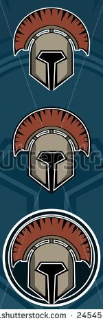 Gladiator helm. Emblem for maskot design. Maksim M
