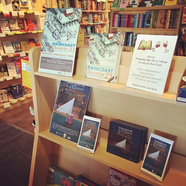 We're as excited as Hilary Grist is about her books being on the shelf now at Book Warehouse in Vancouver! #TomorrowBook