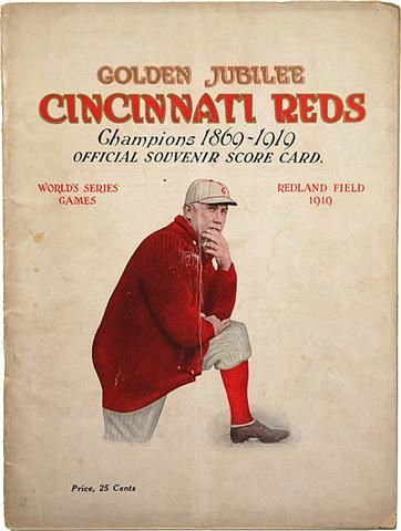 1919 World Series Program