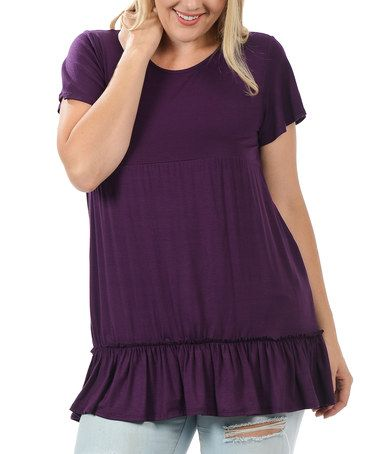 Another great find on #zulily! Purple Short-Sleeve Top - Plus #zulilyfinds