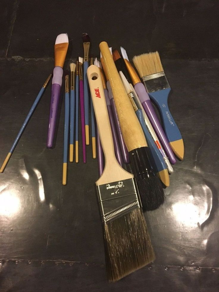 'Our paint brushes are lost, sad & without a home.' See their CUTE idea