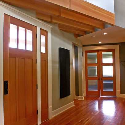 White trim and stained doors wood door white trim design for Wood doors painted trim