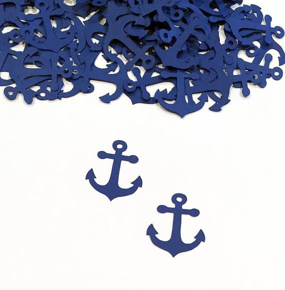 Anchor Confetti Nautical Baby Shower Nautical by SmileyOccasions
