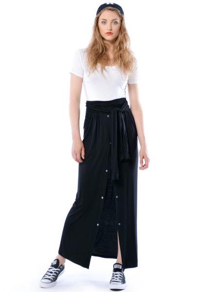 Kola - spódnica maxi imitująca przewiązaną koszulę