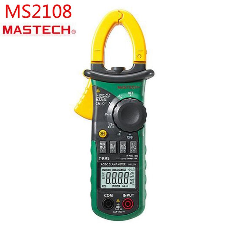 58.00$  Buy here  - MS2108 True RMS AC /DC Clamp Meter Digital Auto Range Multimeter Inrush Current Tester Clamp Meter 6600 Counts 600A 600V