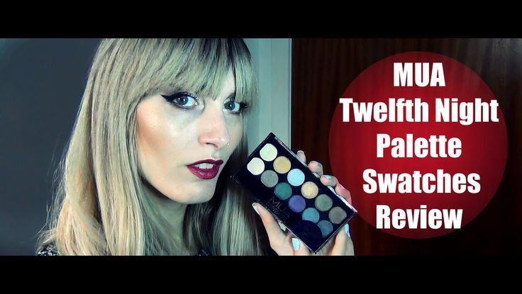 MUA Twelfth Night Palette Swatches/Review | MICHELA ismyname ♥