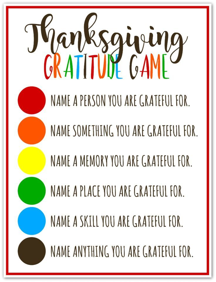 Thanksgiving Gratitude Game – A fun game for the whole family!