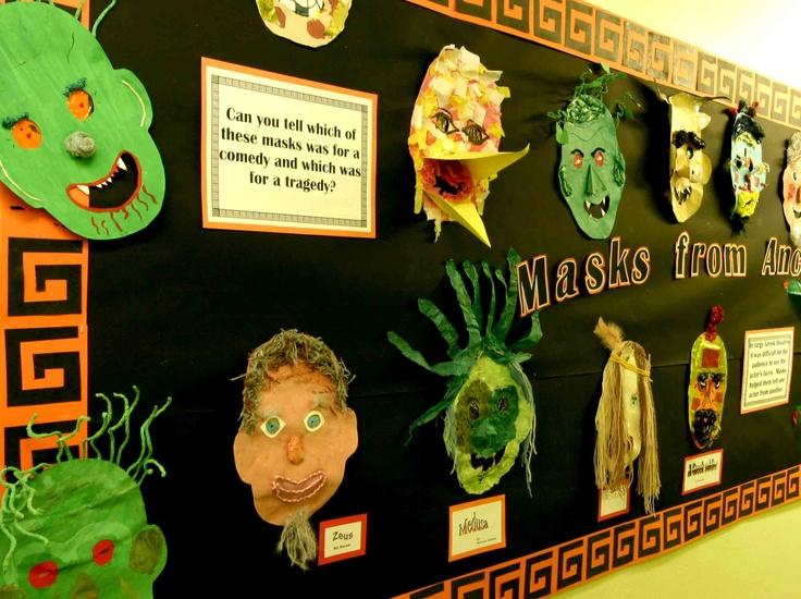 Greek Masks w/ display idea