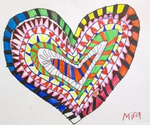 Patterned Hearts: 1st Grade Perhaps?
