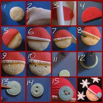 Christmas cupcake decoration tutorial