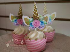 Unicornio cumpleaños Cupcake Topper Unicornio Cupcake Topper cumpleaños Cupcake Topper. …   – OMG! Unicorn Birthday Hacks