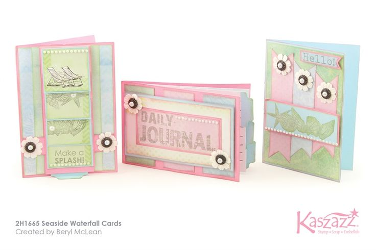2H1665 Seaside Waterfall Cards