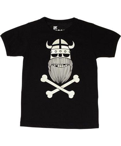 Danefæ glow-in-the-dark zomer t-shirt met Erik het doodshoofd
