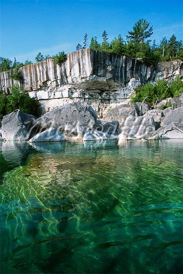 Georgian Bay National Park, Near Tobermory, Ontario, Canada. The Bruce Trail passes through the park.